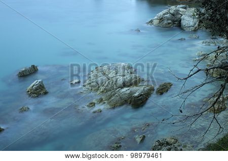 beautiful rocky sea shore
