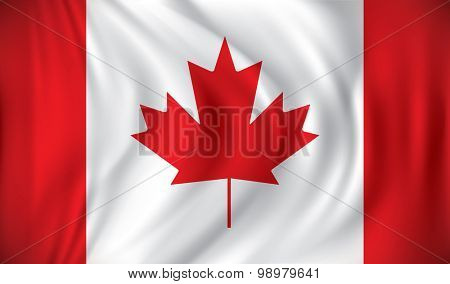 Flag of Canada - vector illustration