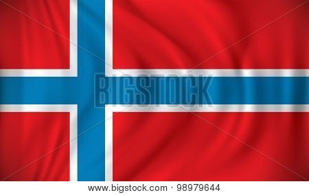 Flag of Bouvet Island - vector illustration