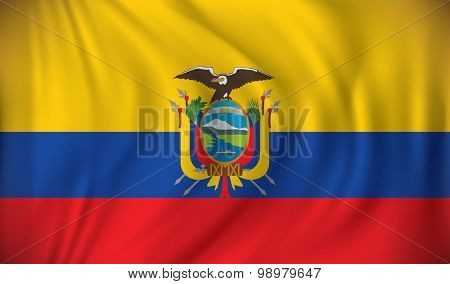 Flag of Ecuador - vector illustration