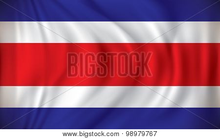 Flag of Costa Rica - vector illustration