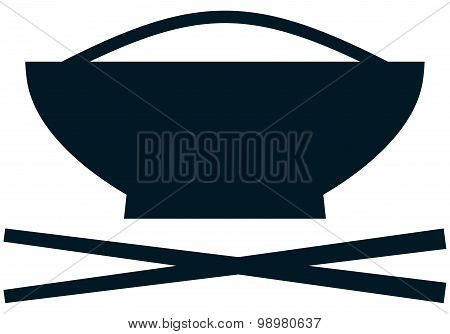 Vector Chinese Food Dish Simple Illustration Isolated