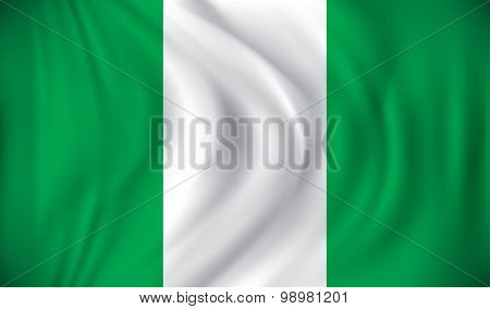 Flag of Nigeria - vector illustration