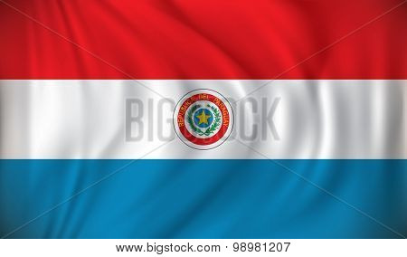 Flag of Paraguay - vector illustration