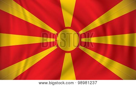 Flag of Macedonia - vector illustration
