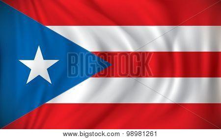 Flag of Puerto Rico - vector illustration