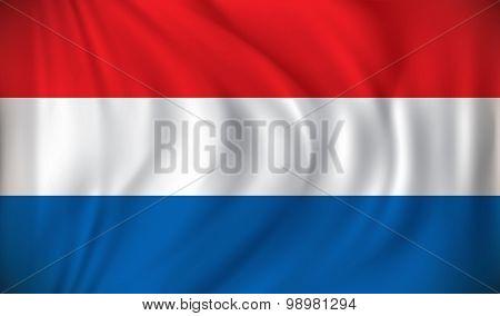 Flag of Netherlands - vector illustration