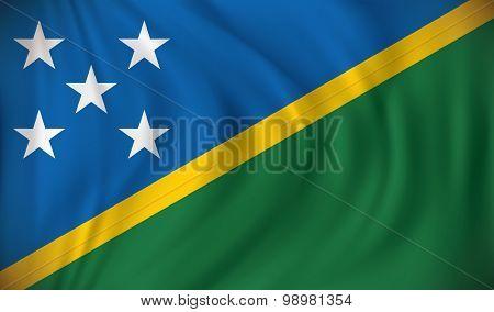 Flag of Solomon Islands - vector illustration