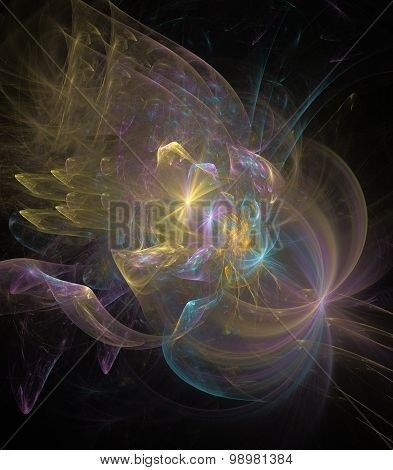 Abstract Fractal Background Bright Glare