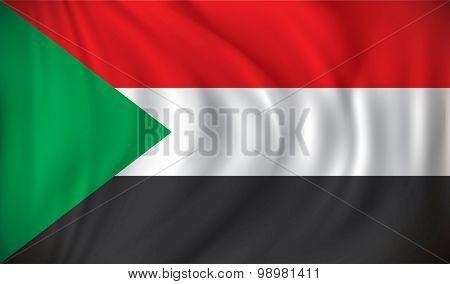 Flag of Sudan - vector illustration