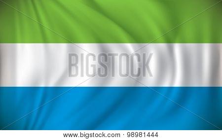 Flag of Sierra Leone - vector illustration