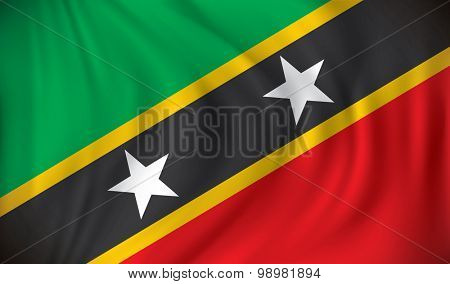 Flag of Saint Kitts and Nevis - vector illustration