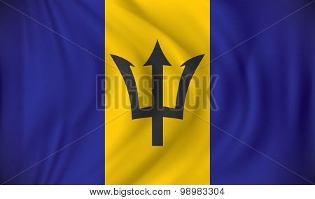Flag of Barbados - vector illustration
