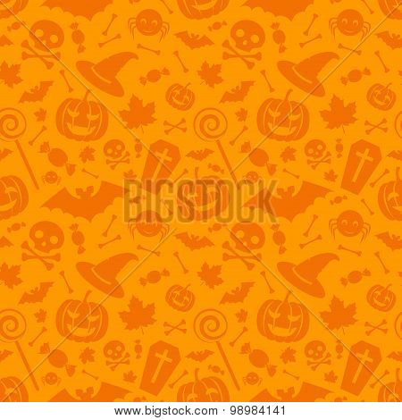 Halloween Orange Festive Seamless