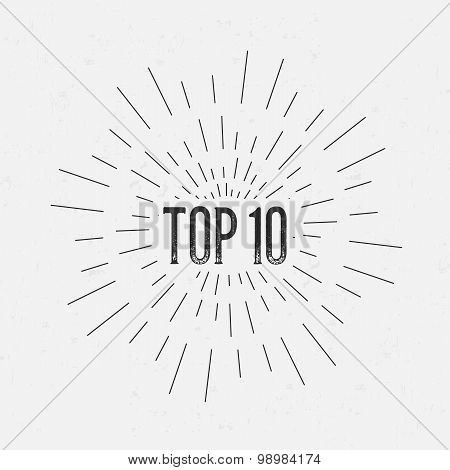 Abstract Creative concept vector design layout with text - top 10. For web and mobile icon isolated