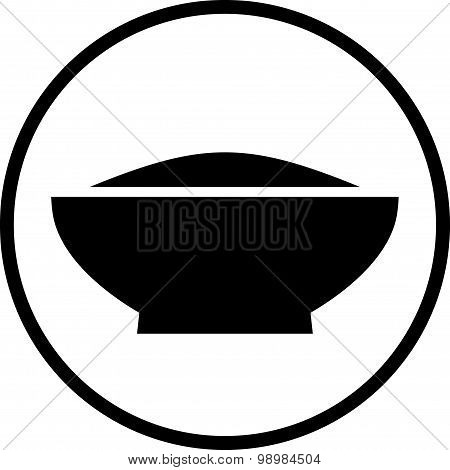 Vector Meal Dish Illustration Isolated On White