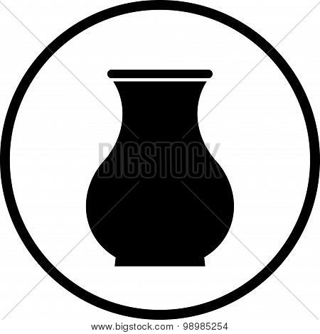 Vector Ceramic Pot Illustration Isolated On White