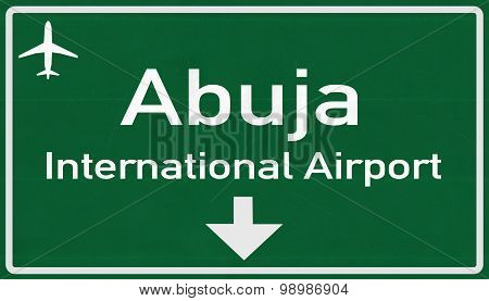 Abuja Nigeria Airport Highway Sign
