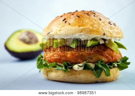 Avocado fish sandwich