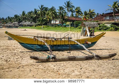 Traditional Sri Lankan Fishing Boat
