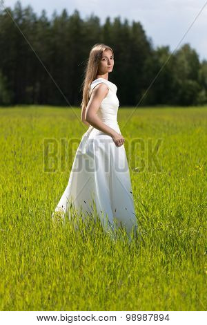 Beautiful Girl In A Wedding Dress