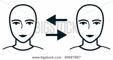 Vector People Communication Isolated On White Background