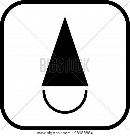 Vector Fool's Cap Isolated On White Background