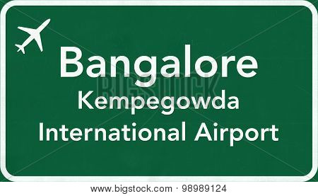 Bangalore India Airport Highway Sign