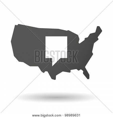 Usa Map Icon With A Tooltip