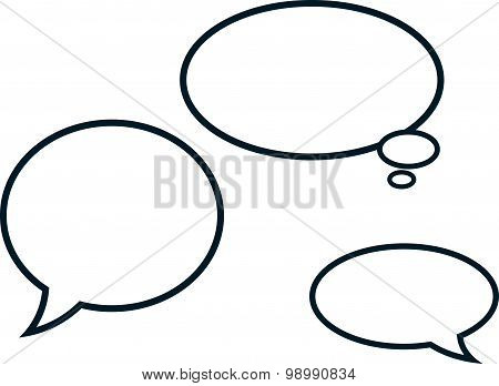 Vector Speech Bubbles Isolated On White Background