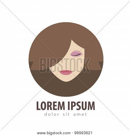 beauty salon vector logo design template. cosmetic, makeup or spa, fashion icon