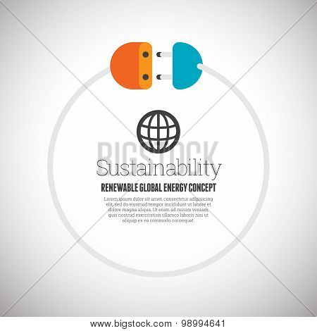 Renewable Global Energy Concept