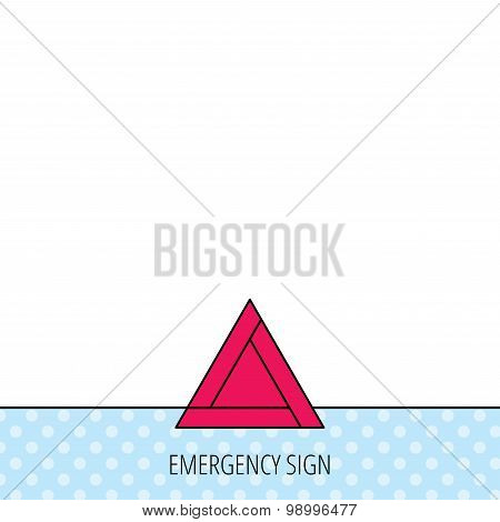 Emergency sign icon. Caution triangle sign.