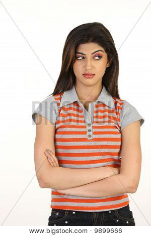 girl in dull expression