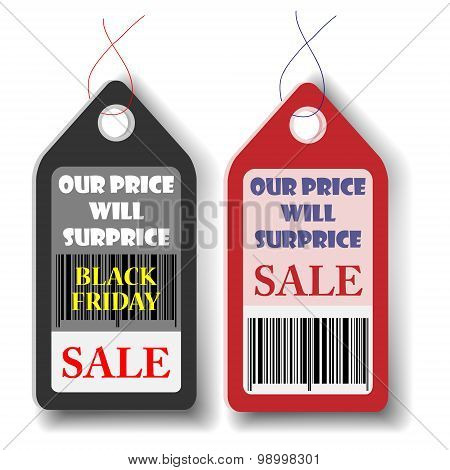 Black Friday Sales Tag.vector Illustration Eps10.