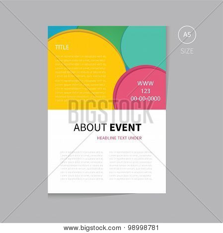 Vector Event Brochure Template Design