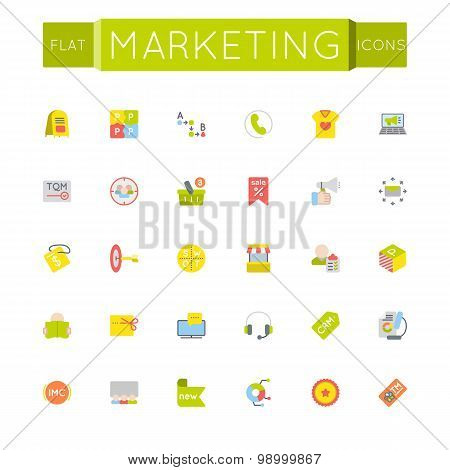 Vector Flat Marketing Icons
