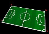 image of football pitch  - Realistic Soccer Arena - JPG