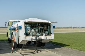 picture of ultralight  - Airports small sport airplane preparing to flight - JPG