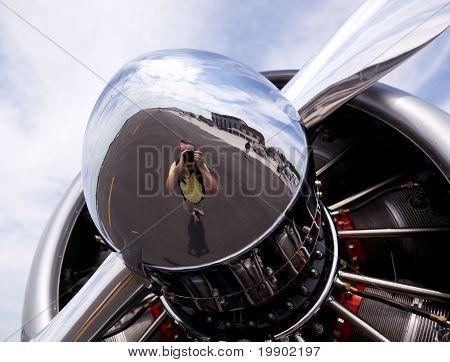American At-6 Texan Engine