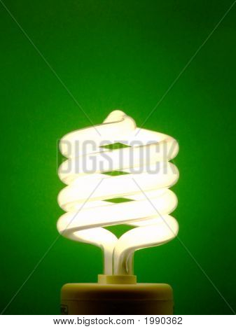 Energy-Saving Light Bulb - Lit