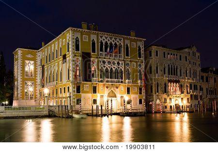 Palazzo Franchetti Cavallo At Night