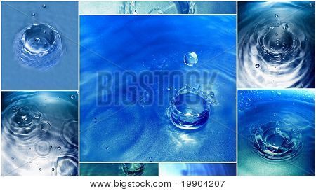 Water Drop Collage