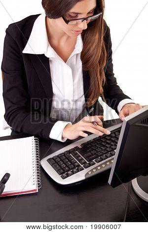 woman's hands keyboard