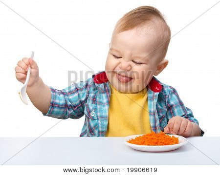 Little Boy Refuses To Eat