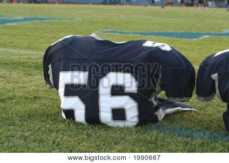 Football Jersey On The Field