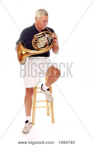 Senior Playing French Horn