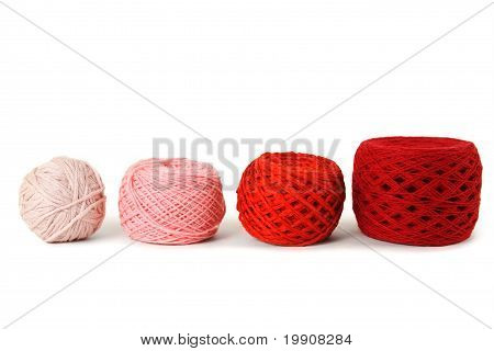 Red Gamma Clews In A Row, Isolated