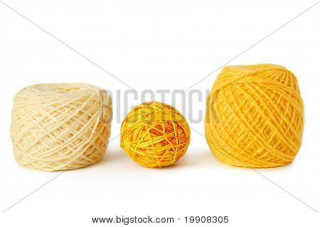 Yellow Gamma Clews In A Row, Isolated