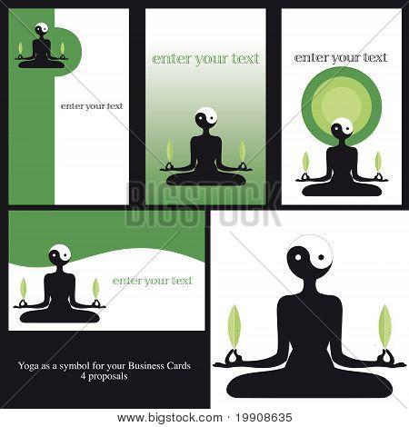 Cartões de Yoga